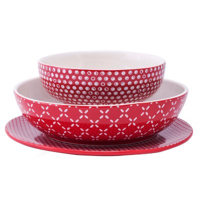 Daily Chef 6-piece Elevated Serving Set, Red.  Ends: Nov 26, 2015 7:20:00 PM CST