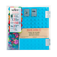 WAFF World Gifts Large Notebook and 100-Cube Combo, Blue