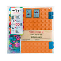 WAFF World Gifts Large Notebook and 100-Cube Combo, Orange