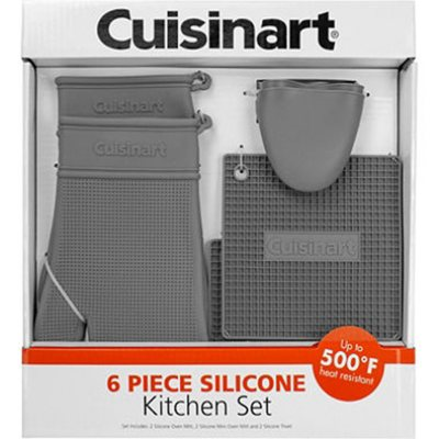 Cuisinart 6-Piece Silicone Kitchen Set, Red.  Ends: May 28, 2015 11:06:00 PM CDT