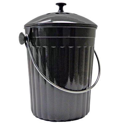 Augusta Milano 1.3 Gallon Compost Bin - Charcoal.  Ends: Jul 3, 2015 7:00:00 PM CDT