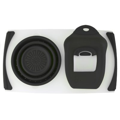 Dexas Over the Sink Counter Board, Black