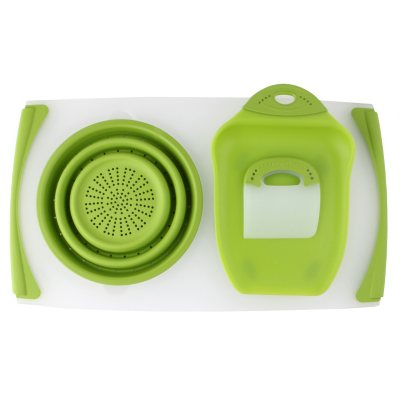 Dexas Over the Sink Counter Board, Green