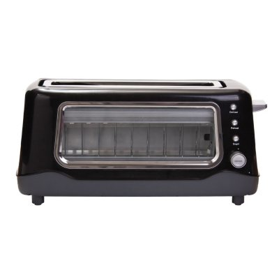 Dash Clearview Toaster, Black