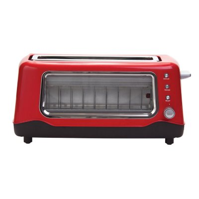Dash Clearview Toaster, Red