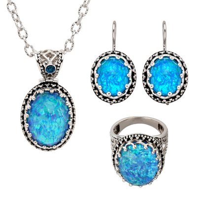 Opal Quartz Ring, Pendant and Earring Set in Sterling Silver.  Ends: May 28, 2015 6:00:00 AM CDT