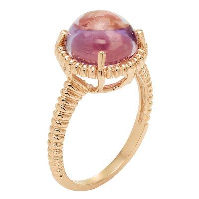 Rose Quartz Cabochon Ring in 14K Rose Gold, Size 7.  Ends: Apr 28, 2016 2:53:00 PM CDT