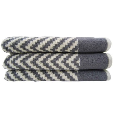 "Loft Fashion Bath Towel, Grey Chevron (30"" x 58"") - One Towel.  Ends: Aug 29, 2014 12:30:00 AM CDT"