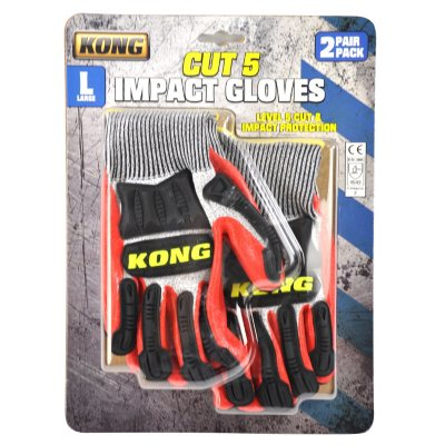 Kong Cut Level 5 Knit Gloves, Large (2 pack)