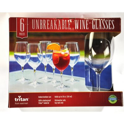 Embassy Row Tritan Wine Glasses, Clear 6 PC.  Ends: May 28, 2015 11:06:00 PM CDT