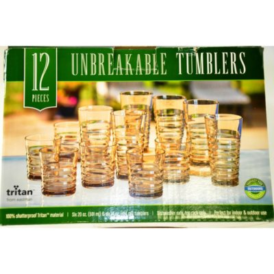 12PK Spiral Debossed Tritan Tumbler Clear/Smoke.  Ends: May 30, 2015 2:00:00 AM CDT