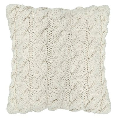 Cable Knit White Pillow.  Ends: May 30, 2015 2:00:00 AM CDT