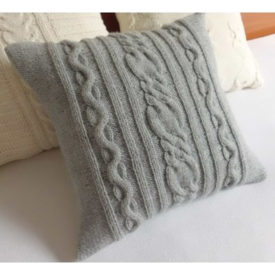 Cable Knit Grey Pillow.  Ends: May 30, 2015 2:00:00 AM CDT