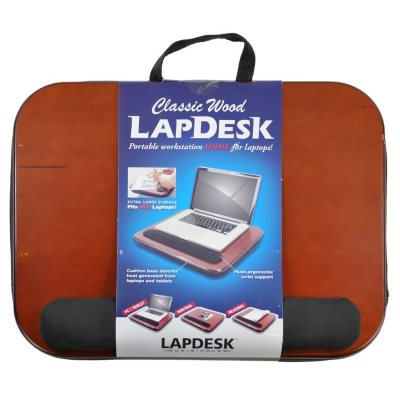 LapGear Lapdesk with Wrist Pad, Brown.  Ends: Nov 26, 2015 7:25:00 PM CST