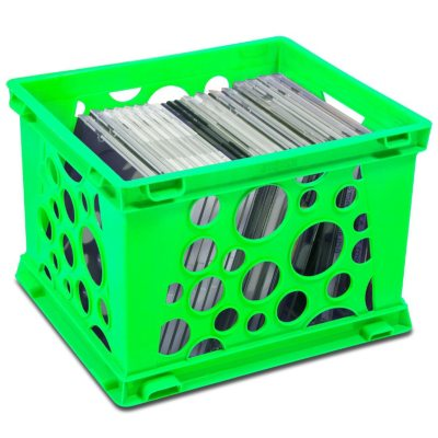 Storex Storage Crates, Neon Green (6-Pack Combo)