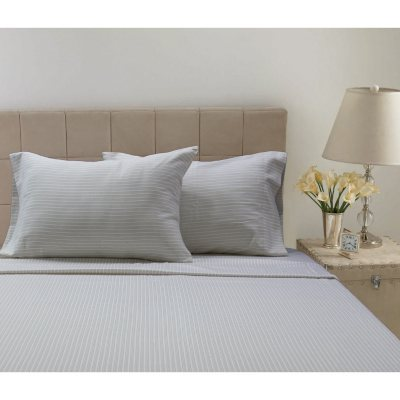300 Thread Count Printed Sheet Set, Tan Stripes (Queen).  Ends: Oct 21, 2014 11:50:00 PM CDT