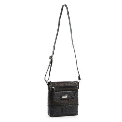 Stone Mountain Crossbody Handbag, Black