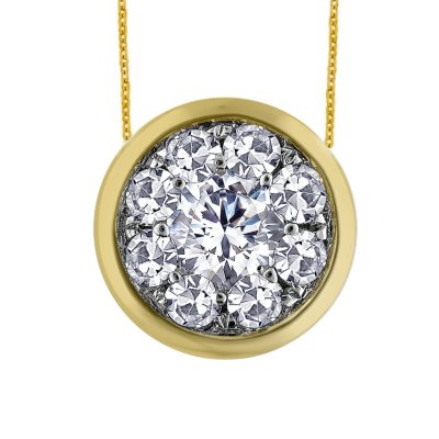 .63 ct. t.w. Unity Diamond Bezel Pendant in 14k Yellow Gold (I, I1).  Ends: Aug 28, 2014 7:00:00 PM CDT