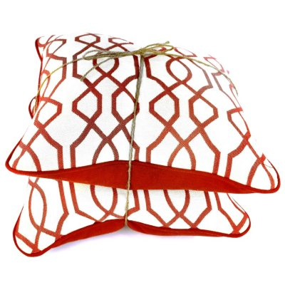 Peak Season Outdoor Pillows, Frame Garnet (2 Pk.).  Ends: Jul 26, 2014 12:25:00 PM CDT