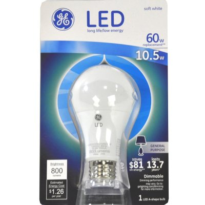GE Energy Smart LED 10.5-Watt General Use Bulb.  Ends: May 28, 2015 11:10:00 PM CDT