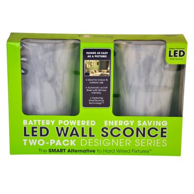 Led Wall Sconce Battery Powered Stone : LED Wall Sconce Battery-Powered - Stone SamsClub.com Auctions