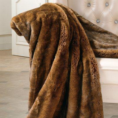 """Faux Fur Throw, Otter (55"""" x 70"""")"""