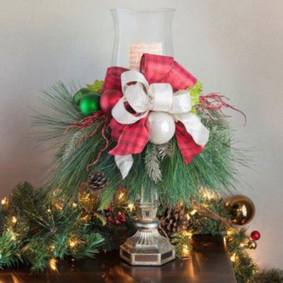 Holiday Candlestick Centerpiece, Timeless Traditions Red.  Ends: Feb 1, 2015 8:50:00 AM CST
