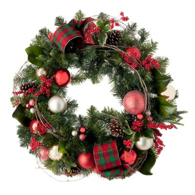 "Decorated Christmas Wreath, Timeless Tradition Red (32"").  Ends: Mar 5, 2015 1:00:00 PM CST"