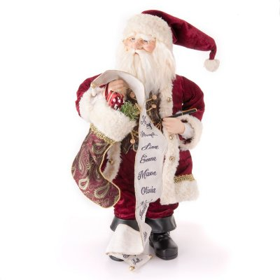 "Christmas Collectible 32"" Fabric Santa with List.  Ends: Dec 18, 2014 5:50:00 PM CST"