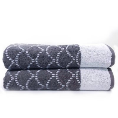 "Loft Fashion 100% Cotton Bath Towel, Grey (30"" x 58"") - 1 Towel.  Ends: Dec 22, 2014 11:15:00 PM CST"