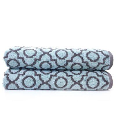 """Loft Fashion 100% Cotton Bath Towel, Teal/Grey (30"""" x 58"""") - 1 Towel.  Ends: Dec 20, 2014 6:25:00 AM CST"""