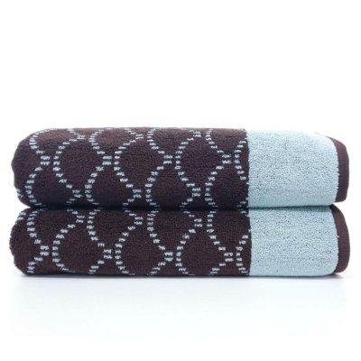 """Loft Fashion 100% Cotton Bath Towel, Blue/Brown (30"""" x 58"""") - 1 Towel.  Ends: Dec 20, 2014 4:30:00 PM CST"""