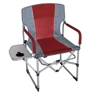 CampSmart Portable Director's Chair, Red and Gray.  Ends: Aug 22, 2014 4:40:00 PM CDT