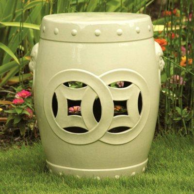 """Member's Mark 18"""" Ceramic Garden Stool, Ivory.  Ends: Aug 23, 2014 10:25:00 AM CDT"""