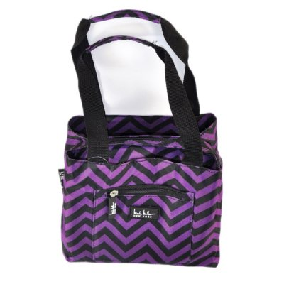 Nicole Miller Insulated Lunch Tote, Purple/Black Chevron.  Ends: Oct 25, 2014 8:30:00 AM CDT