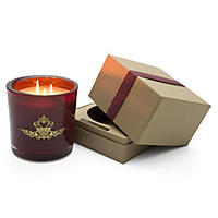 Hanna's Candle Company 32-oz. Highly Fragranced Candle with Gift Box - Mahogany & Amberwood in Windsor Wine Glass
