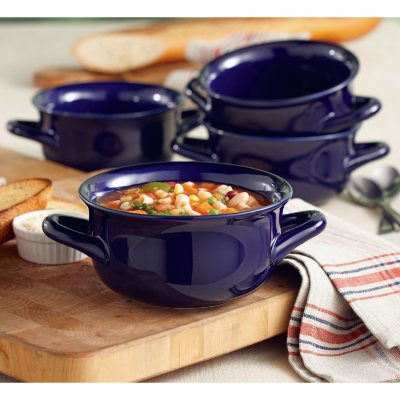 Daily Chef 4 Pack Fireside Soup Bowl, Blue.  Ends: Nov 25, 2014 12:15:25 AM CST