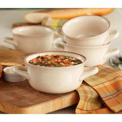 Daily Chef 4 Pack Fireside Soup Bowl, White.  Ends: Dec 19, 2014 5:20:24 AM CST