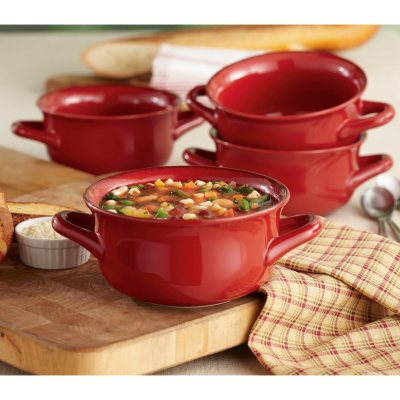 Daily Chef 4 Pack Fireside Soup Bowl, Red.  Ends: Nov 22, 2014 5:35:08 PM CST