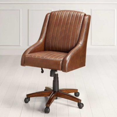 Black Mountain Leather Office Chair, Inspired by Nicholas Sparks (Brown).  Ends: Jul 27, 2015 11:00:00 PM CDT
