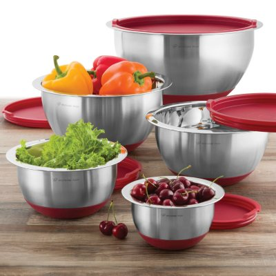 Wolfgang Puck Nonskid Stainless Steel Mixing Bowl Set (10-Piece).  Ends: Dec 19, 2014 12:15:00 AM CST