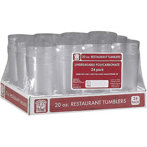 Bakers & Chefs™ Restaurant Clear Tumblers - 20 oz./24 pk.