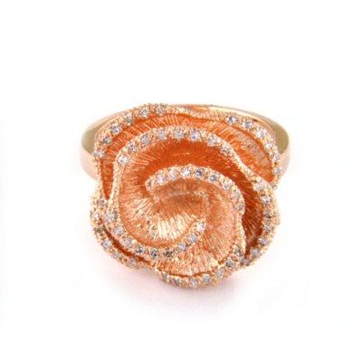 30 ct. t.w. Diamond Flower & 14K Rose Gold Ring (H I, I1) Member