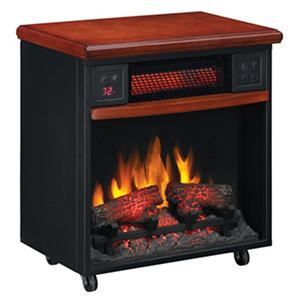 Twin Star Infrared Fireplace with Casters