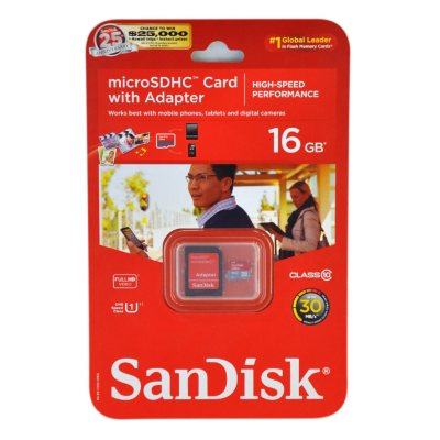 SanDisc 16 GB Micro Memory Card.  Ends: Nov 23, 2014 5:00:00 AM CST
