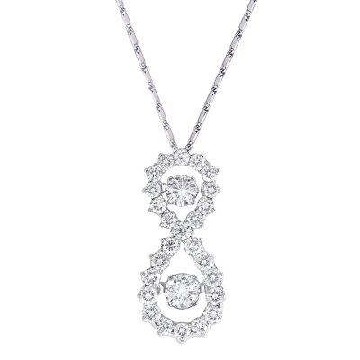 "1.00 CT. T.W. Diamond Pendant in 14K White Gold, 18"" Chain.  Ends: Dec 18, 2014 7:00:00 PM CST"