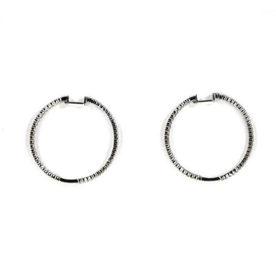 2.0 ct. t.w. Diamond Inside-Out Hoop Earrings, 14K White Gold (I, I1).  Ends: Aug 23, 2014 7:45:00 PM CDT