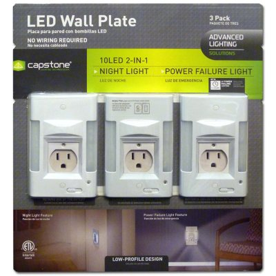 LED Wall Plate  (3 pk.).  Ends: Aug 21, 2014 2:05:00 PM CDT