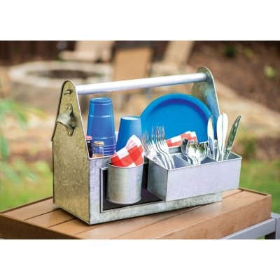 Worldwide Home Products Galvanized Caddy