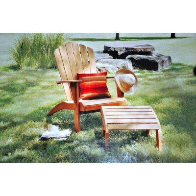 Teak Adirondack Chair w/ Ottoman.  Ends: Sep 21, 2014 2:15:00 PM EDT